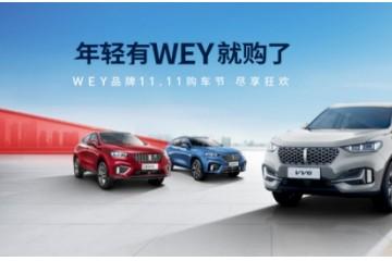 "WEY VV5""双十一""半价购车、5000元购车基金等好礼享不停!"